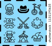 simple 9 icon set of costume...   Shutterstock .eps vector #1131195635