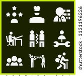 set of 9 people filled icons...   Shutterstock .eps vector #1131196226