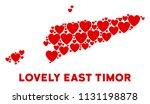 valentine east timor map mosaic ... | Shutterstock .eps vector #1131198878
