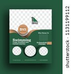 swimming competition brochure ... | Shutterstock .eps vector #1131199112