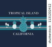 california tropical island ... | Shutterstock .eps vector #1131202412