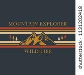 mountain explorer  wild life... | Shutterstock .eps vector #1131202418
