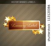 stylish shiny vector golden...   Shutterstock .eps vector #113120386