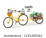 flowers for you. hand drawn... | Shutterstock .eps vector #1131205262