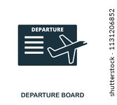departure board icon. line...