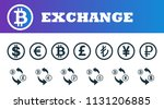 money exchange icons set. ui...