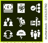 set of 9 business filled icons... | Shutterstock .eps vector #1131213782