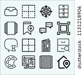 interface related set of 16...   Shutterstock .eps vector #1131218906