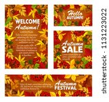 autumn sale banner and fall... | Shutterstock .eps vector #1131223022