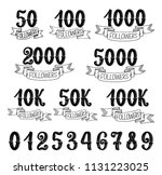 followers quantity number icons ...   Shutterstock .eps vector #1131223025
