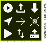 set of 9 arrows filled icons... | Shutterstock .eps vector #1131223196