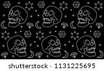 design pattern head skull cloth ... | Shutterstock .eps vector #1131225695