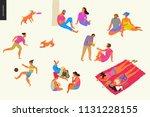 people park festival picnic  ... | Shutterstock .eps vector #1131228155