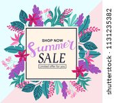 summer sale tropical colorful... | Shutterstock .eps vector #1131235382