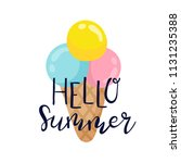 summer labels  logos  hand... | Shutterstock .eps vector #1131235388