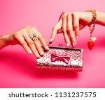 little girl stuff for princess  ... | Shutterstock . vector #1131237575