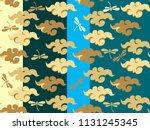 beautiful japanese seamless ... | Shutterstock .eps vector #1131245345