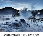 a group of tourists experience... | Shutterstock . vector #1131246725