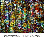 stained glass forever series.... | Shutterstock . vector #1131246902