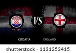 croatia vs england  background... | Shutterstock .eps vector #1131253415