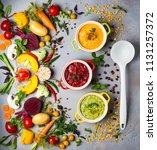 concept of healthy vegetable... | Shutterstock . vector #1131257372
