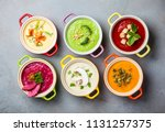 variety of colorful vegetables... | Shutterstock . vector #1131257375