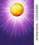 Purple Disco Rays With Stars....