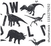 wild dinosaurs seamless pattern.... | Shutterstock .eps vector #1131275252