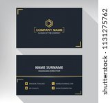 business model name card luxury ... | Shutterstock .eps vector #1131275762