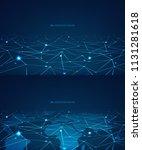 blockchain technology concept... | Shutterstock .eps vector #1131281618