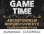 font alphabet typeface vintage...   Shutterstock .eps vector #1131290612