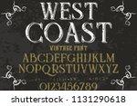 hand drawn typeface set brush... | Shutterstock .eps vector #1131290618