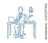 afraid business man  employee... | Shutterstock .eps vector #1131297362