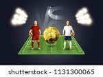 soccer players versus each other banner low-poly style Belgium versus England