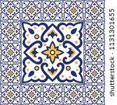 portuguese tile pattern vector...   Shutterstock .eps vector #1131301655