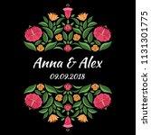 autumn wedding save the date... | Shutterstock .eps vector #1131301775