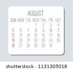 plain contemporary august year... | Shutterstock .eps vector #1131305018