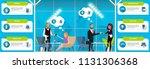 business use of near field... | Shutterstock .eps vector #1131306368