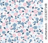 cute floral seamless pattern in ... | Shutterstock .eps vector #1131307148