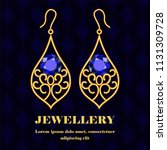 gold jewellery concept...   Shutterstock .eps vector #1131309728