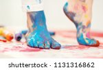 closeup painted in bright... | Shutterstock . vector #1131316862