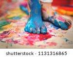 closeup painted in bright... | Shutterstock . vector #1131316865