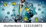 unrecognizable corporate... | Shutterstock . vector #1131318872