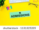 college admission concept. word ... | Shutterstock . vector #1131325205