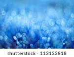 Abstract Background Blue Bokeh...