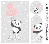 panda vector print  baby shower ... | Shutterstock .eps vector #1131330815