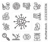set of 13 simple editable icons ... | Shutterstock .eps vector #1131333536