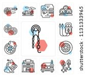 set of 13 simple editable icons ...   Shutterstock .eps vector #1131333965