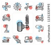 set of 13 simple editable icons ...   Shutterstock .eps vector #1131333995