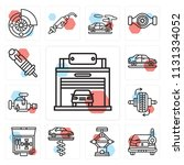 set of 13 simple editable icons ...   Shutterstock .eps vector #1131334052